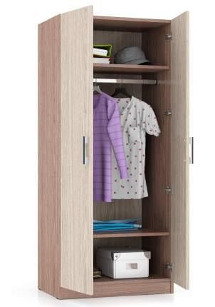 Платяной шкаф Мебельный Двор МД-СК-9Ш 70х45х160, ясень шимо тёмный