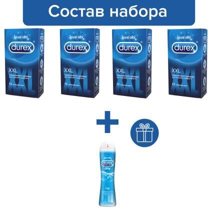 Презервативы Durex XXL 4 упаковки по 12 шт + Гель Play Feel в подарок