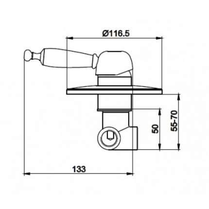 Смеситель для встраиваемой системы Kaiser Vincent 31017-1 Bronze