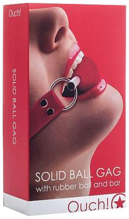 Кляп-шар Shots Media Solid Ball Gag на красных ремешках