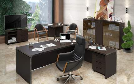 Письменный стол SKYLAND SKY_sk-01231399, венге/темно-коричневый