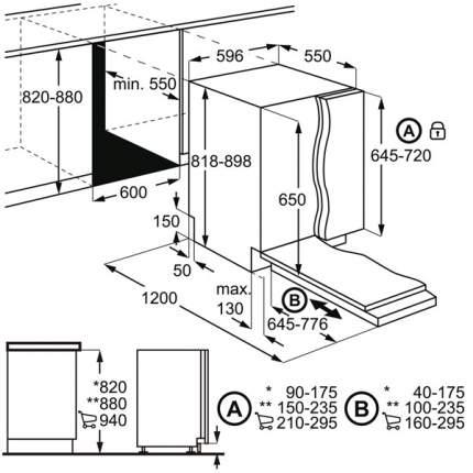 Встраиваемая посудомоечная машина 60 см Electrolux EMS27100L