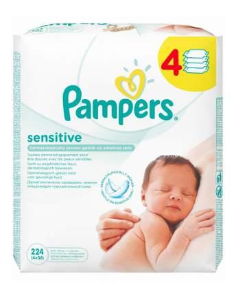 Детские влажные салфетки Pampers sensitive, 224 шт.