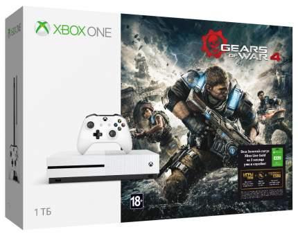 Игровая приставка Microsoft Xbox One S 1Tb + Игра Gears of War 4 + Xbox Live 3м
