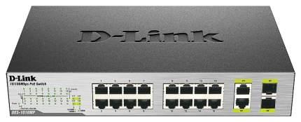 Коммутатор D-Link DES-1018MP/A1A Серый, черный