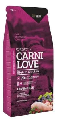 Сухой корм для собак Brit Carnilove High in Chicken, курица, 12кг
