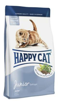 Сухой корм для котят Happy Cat Fit & Well Junior, домашняя птица, лосось, кролик, 0,3кг