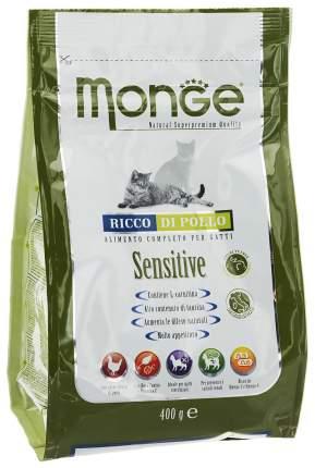 Сухой корм для кошек Monge Sensitive, при чувствительном пищеварении, курица, 0,4кг