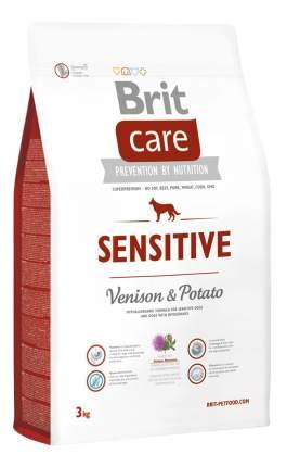 Сухой корм для собак Brit Care Sensitive, гипоаллергенный, оленина, картофель, 3кг