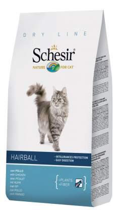 Сухой корм для кошек Schesir Hairball, для длинношерстных, курица, 1,5кг