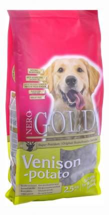 Сухой корм для собак NERO GOLD Adult, все породы, оленина и картофель, 2,5кг