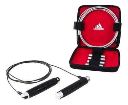 Набор для фитнеса со скакалкой Adidas ADRP-11012 черно-серебристый 275 см