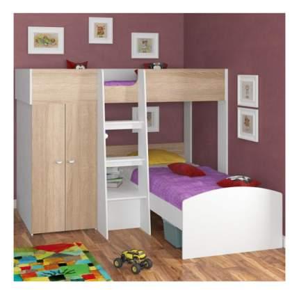 Двухъярусная кровать Golden Kids 4 белая/дуб