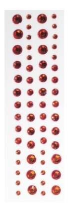 Набор для создания украшений Кустарь Стразы самоклеющиеся 3-6 мм красный 60 шт.