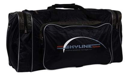 Дорожная сумка Polar 6008 черная/хаки 56 x 30 x 30