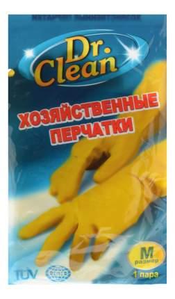хозяйственные перчатки резиновые, размер M, тон желтые, 1 пара