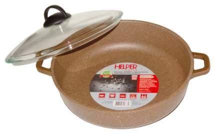 Жаровня HELPER GRANIT D28 с термост,стеклянной крышкой