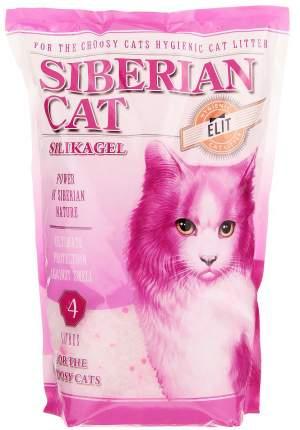 Впитывающий наполнитель для привередливых кошек Сибирская кошка Элита силикагелевый, 4 л