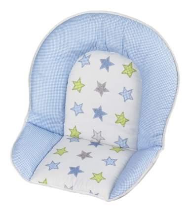 """Мягкая вставка для стульев Geuther """"Family"""", Filou бело-голубая со звездами (цвет 132)"""