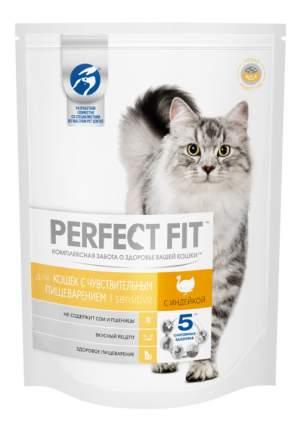 Сухой корм для кошек Perfect Fit Sensitive, индейка, 16шт по 190г