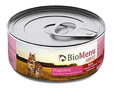 Консервы для кошек BioMenu Adult, индейка, 100г