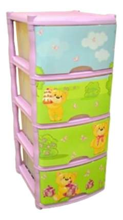 Комод детский Plastic Republic Bears Tutti 4 ящика