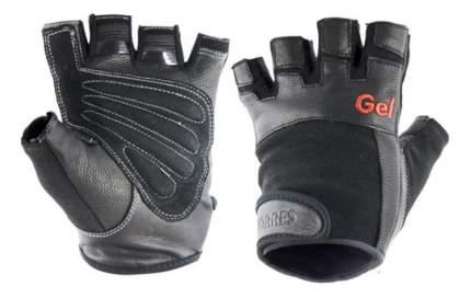 Перчатки для тяжелой атлетики и фитнеса Torres PL6049, черные, M