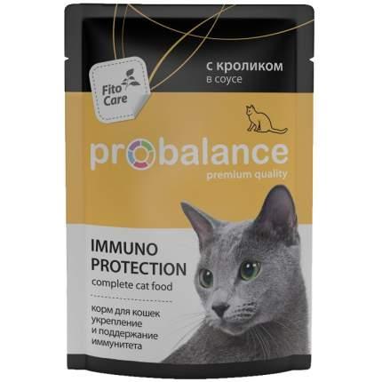 Влажный корм для кошек ProBalance Immuno Protection, кролик, 85г