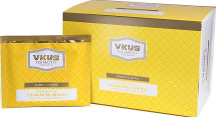 Чай травяной Vkus органический с ромашкой и апельсином 20 пакетиков