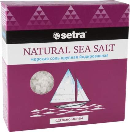 Соль морская пищевая Setra крупная йодированная 500 г