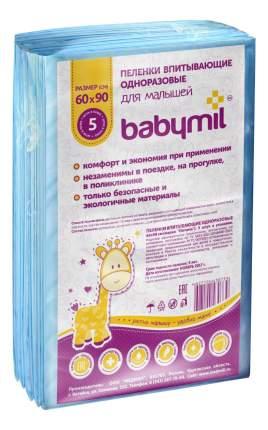 Пеленки впитывающие Babymil 60x90 см Оптима 5шт