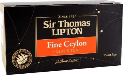 Чай черный Lipton пакетиков sir Thomasx fine ceylon 25 пакетиков