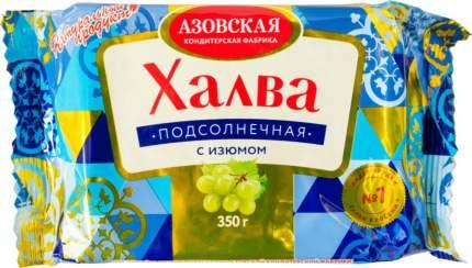 Халва подсолнечная Азовская кондитерская фабрика с изюмом 350 г