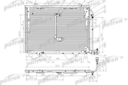 Радиатор кондиционера автомобильный PATRON PRS1057