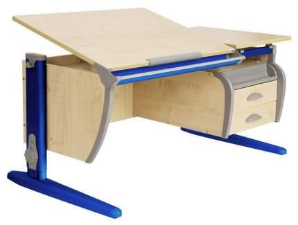 Парта Дэми СУТ 17-05Д с задней, двухъярусной задней и боковой приставками Синий 120 см