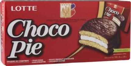 Пирожное choco pie Lotte в шоколаде 168 г
