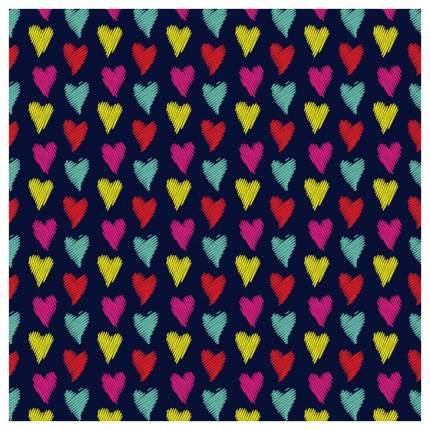 Постер из ткани вертикальный «Красочные сердца» JoyArty tp_18375