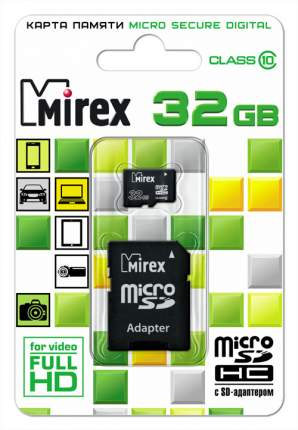 Карта памяти MIREX Micro SDHC 32GB