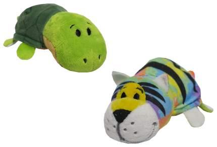 Мягкая игрушка 1 TOY Вывернушка плюшевая Радужный тигр Черепашка 12 см
