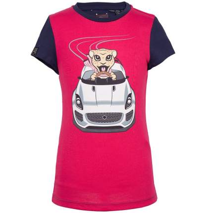Футболка для девочек Jaguar Girls' Car Graphic T-Shirt, Pink/Navy, артикул JDTC813PNO