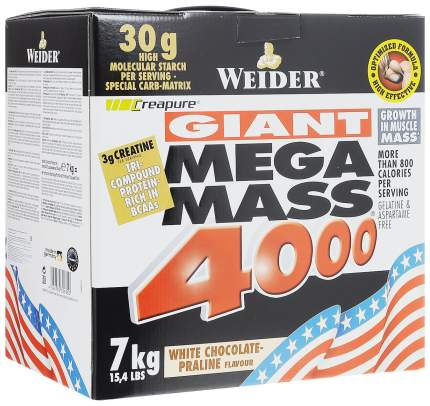 Гейнер Weider Mega Mass 4000 7000 г White Chocolate-Praline