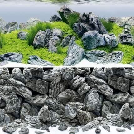 Фон-пленка для аквариума Juwel Poster 4, XL, акваскейпинг/камни, 150х60 см
