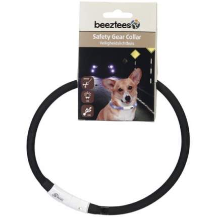 Ошейник для собак Beeztees, силиконовый, светящийся, с USB, черный, 70 см х 10 мм