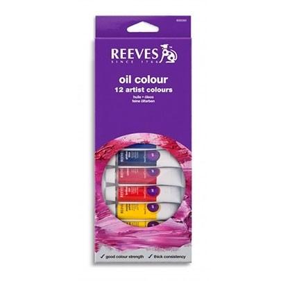Масляные краски Reeves Oil colour Set 12 цветов