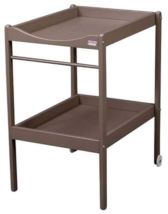 COMBELLE Столик для пеленания ALICE (дерево) 2 колеса Hazel / Ореховый
