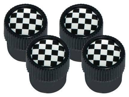 Набор колпачков на ниппель MINI Chequered Flag Design Wheel Valve Caps Black/White