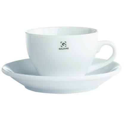 Чашка для Капучино с блюдцем фарфоровая Galzone, объем 0,25 л