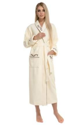 Женский махровый халат из бамбука Caramele Peche Monnaie 709, кремовый, S