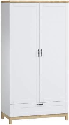 Платяной шкаф Divan.ru Равенна-2 101х52х195, белый шагрень/дуб гамильтон натуральный