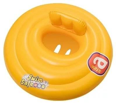 Круг для плавания с сиденьем и спинкой трехкамерный Bestway Swim Safe, 69см 32096